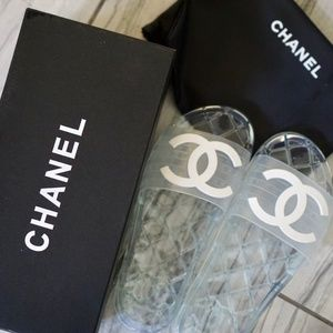 CHANEL jelly slides sandals size 38 (us 7)